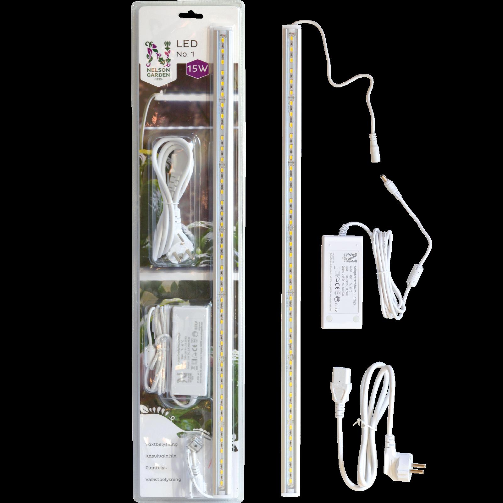 Vækstbelysning LED No.1, 60 cm 15 w med adapter