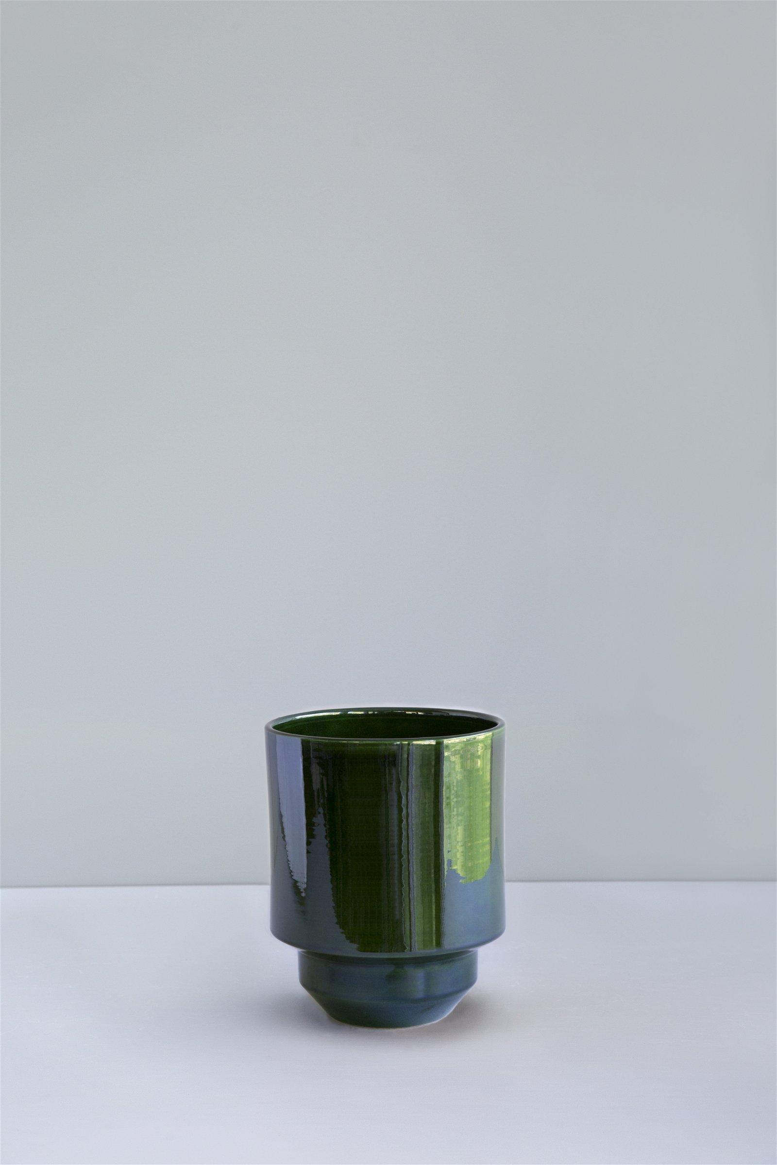 Bergs Potter, The Hoff Pot GLAZED: Emerald Green, 18 cm, Potte