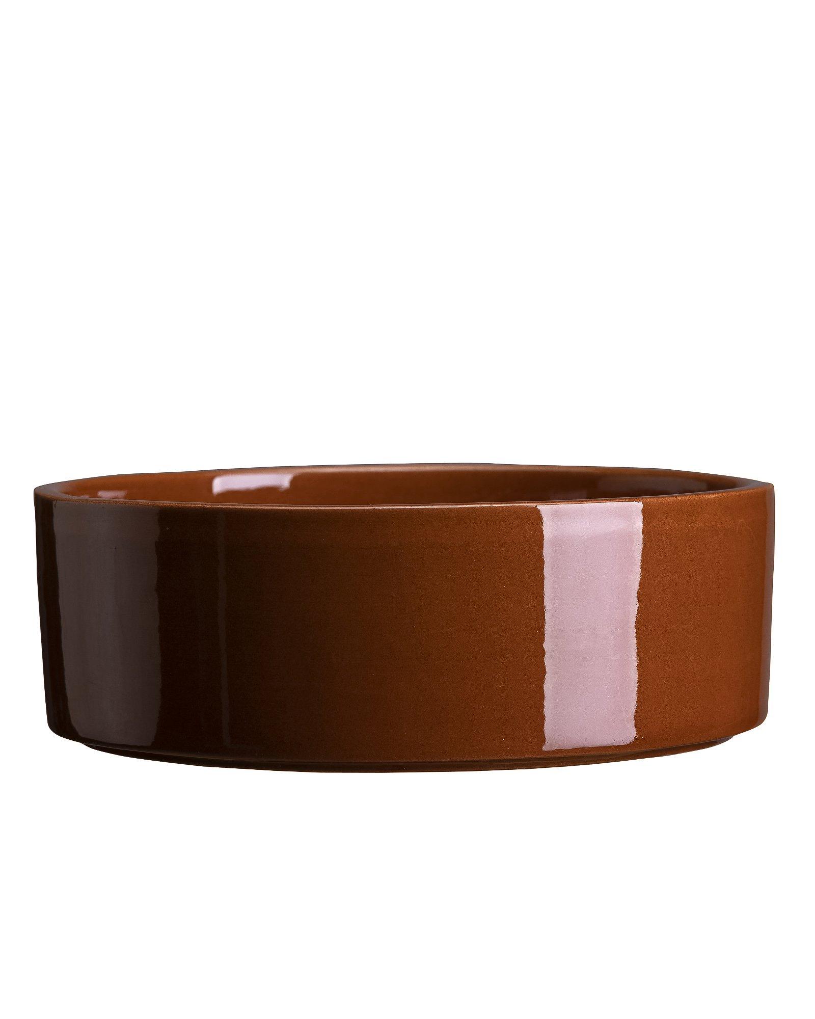 Bergs Potter, The Hoff Pot GLAZED: Rusty Red, 30 cm, Underfad