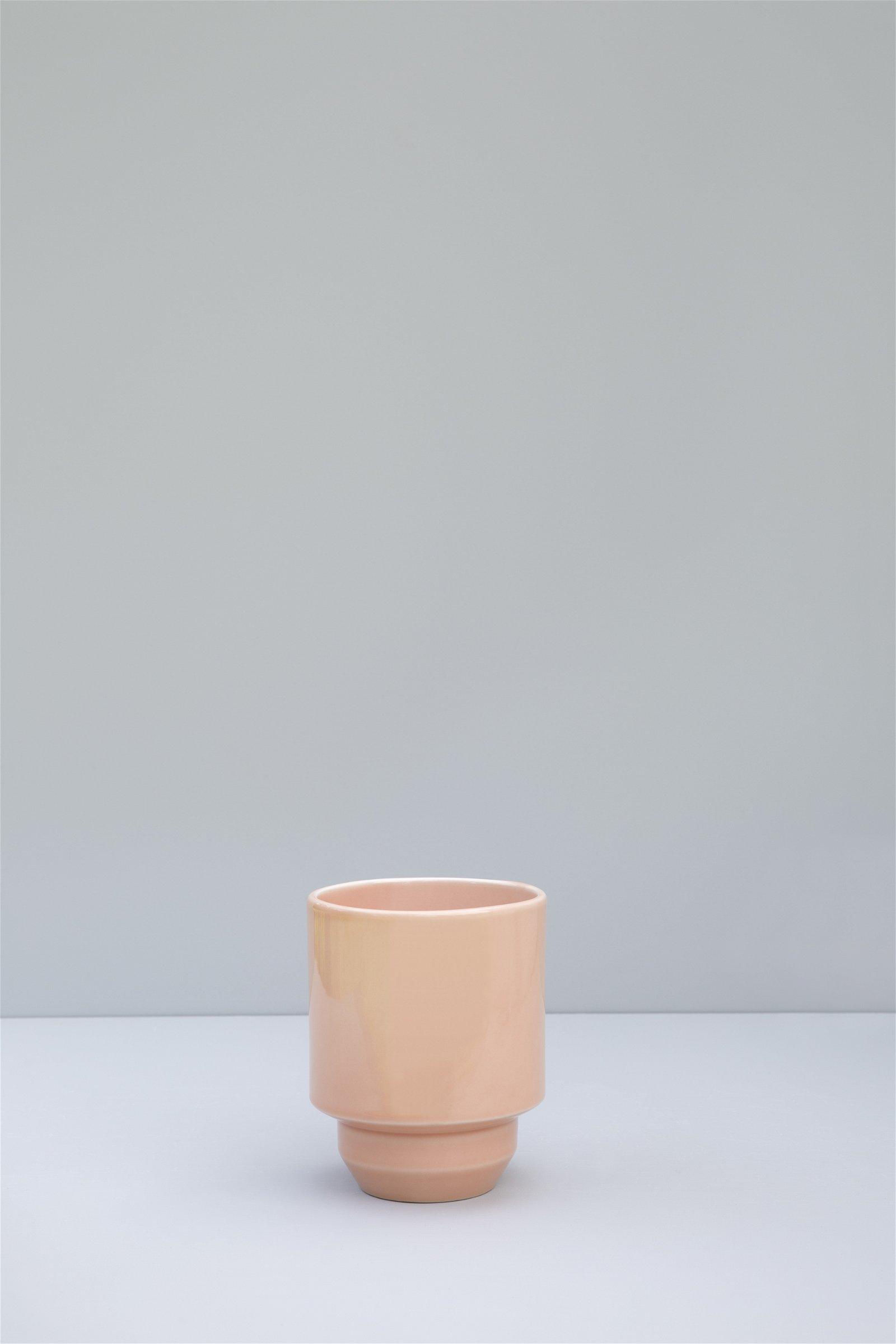 Bergs Potter, The Hoff Pot GLAZED: Rose Quartz, 18 cm, Potte