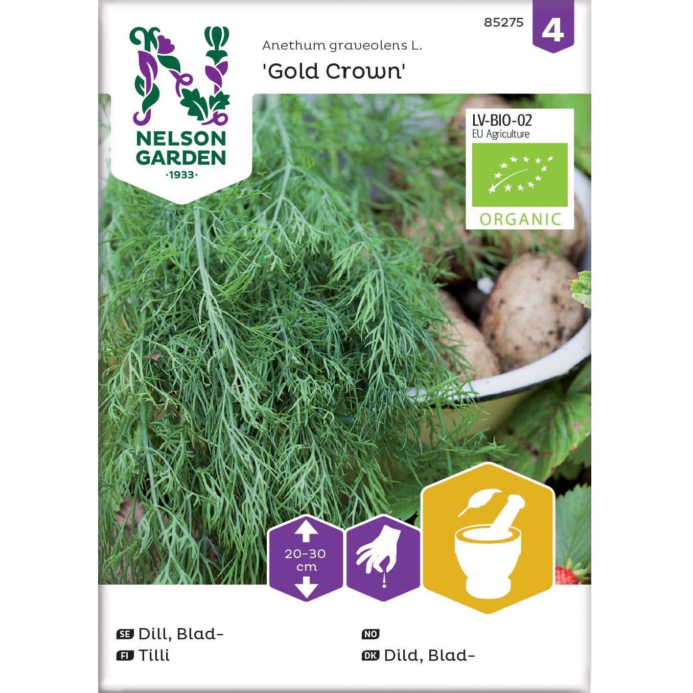 Dild, Blad-, Gold Crown, Organic