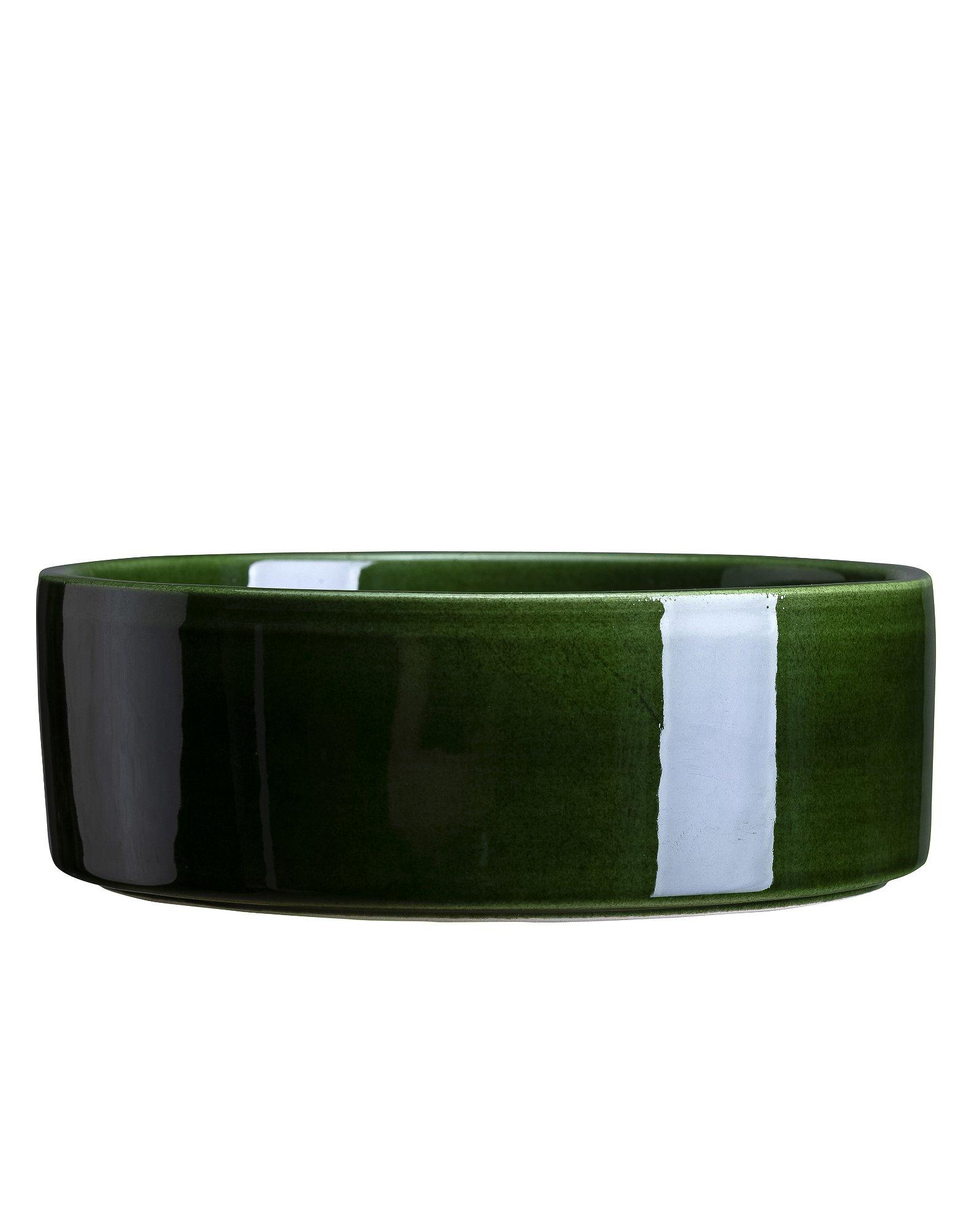 Bergs Potter, The Hoff Pot GLAZED: Emerald Green, 30 cm, Underfad