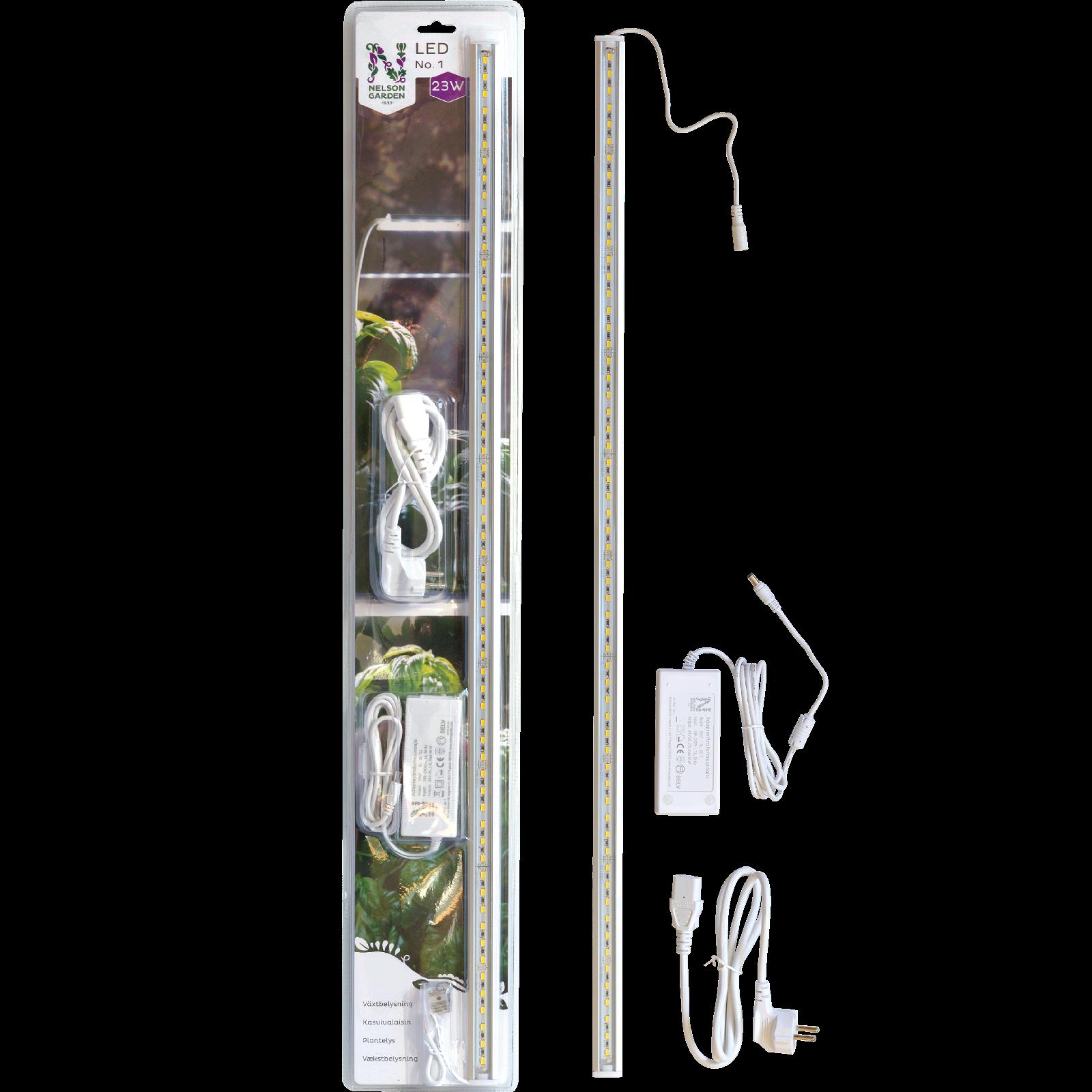 Vækstbelysning LED No.1, 85 cm 23 w med adapter
