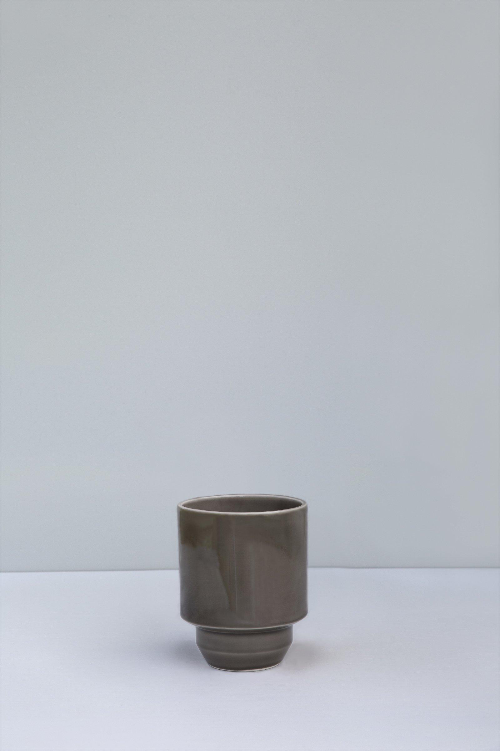 Bergs Potter, The Hoff Pot GLAZED: Pearl Grey, 18 cm, Potte